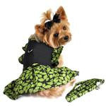 Green Leaf Garden Party Dog Harness Dress