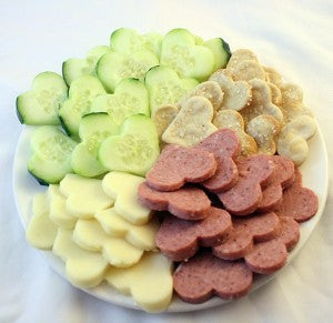 Heart-shaped Snack Plate