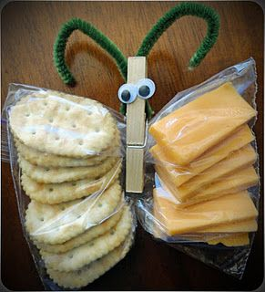 Cheese & Cracker Butterfly Snack Bag