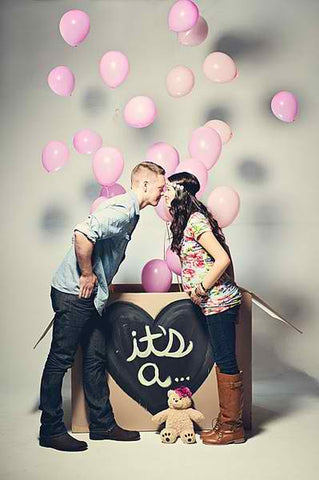 pink balloon gender reveal