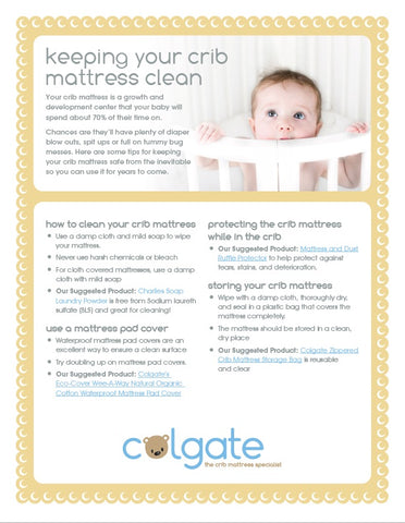 how to clean crib mattress