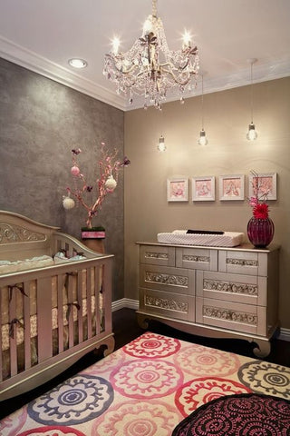 metallic paint nursery