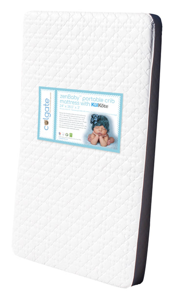 zenBaby® Portable Crib Mattress with KulKote®