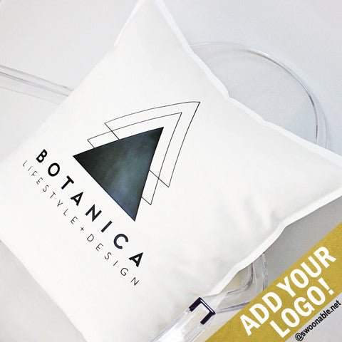 "Custom Logo 20"" x 20"" Pillow Cover"
