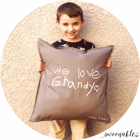 "Handwriting Custom 20"" x 20"" Pillow Cover"