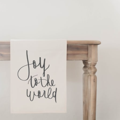 """Joy To The World"" Table Runner"