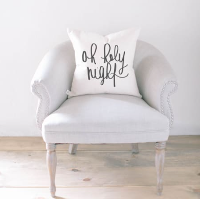 """Oh Holy Night"" Pillow Cover"