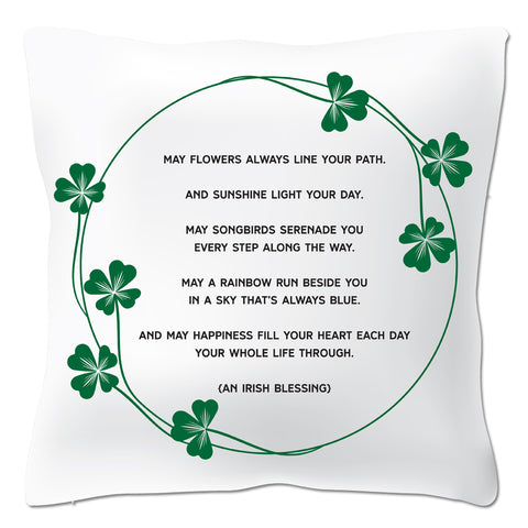 "Irish Blessing 20"" x 20"" Pillow Cover"