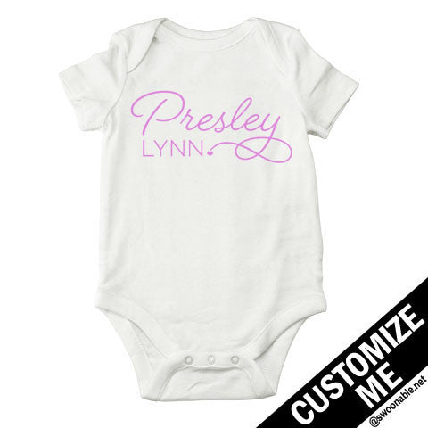 Custom Girly Script Name Shirt