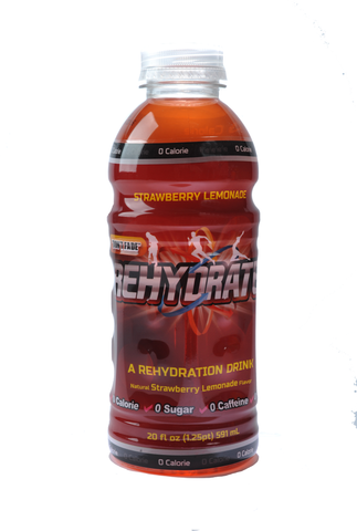 8 Pack of Strawberry Lemonade Rehydrate - 20 oz