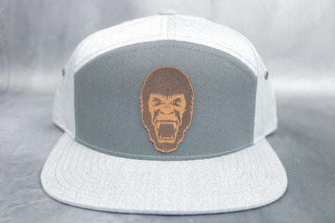 Leather Guerilla Patch 7 Panel Hat Charcoal Heather Grey