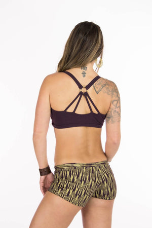 Kali Bootyshorts with Gold Ikat Print