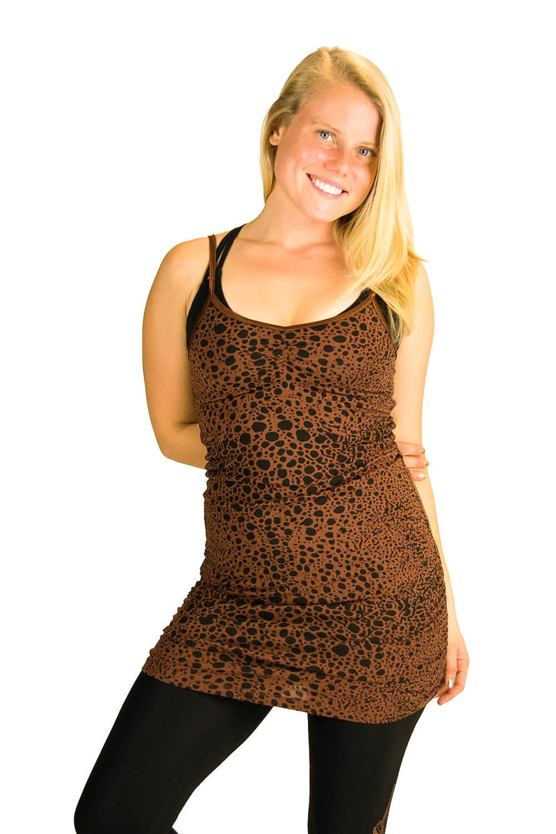 Anabelle Tank with Leopard Print