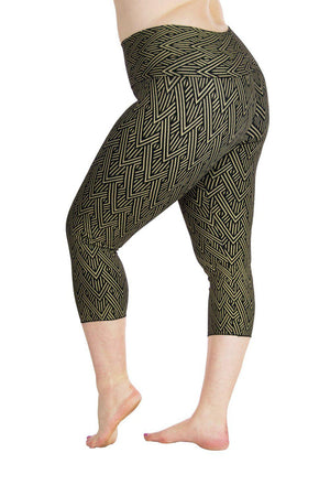 Ananda Yoga Tights with Deco Arrow Print