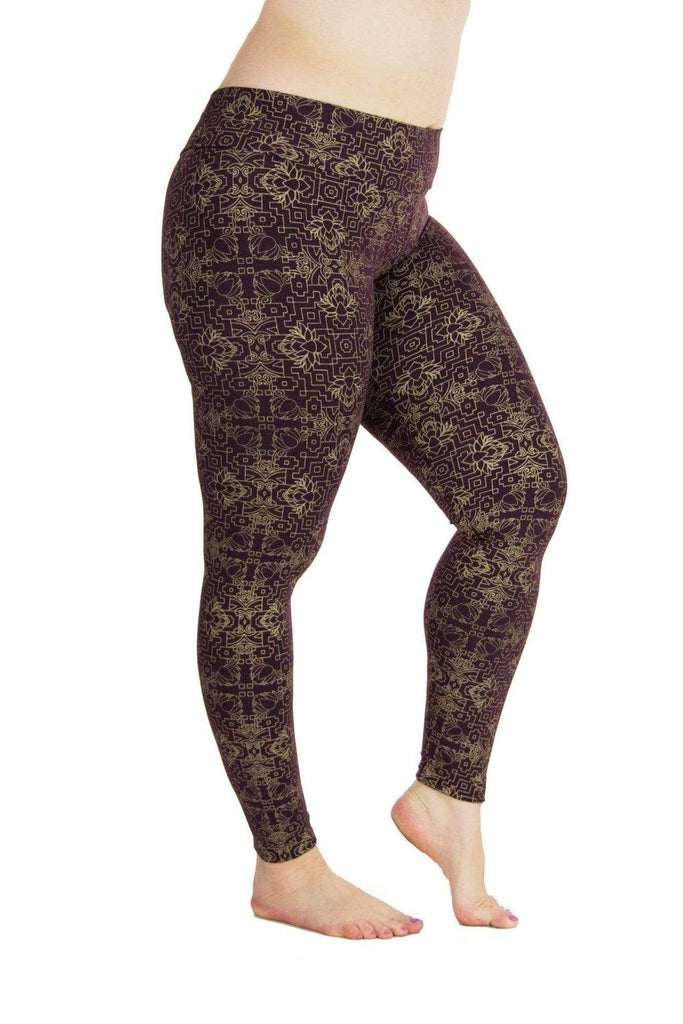 Indira Tights with Golden Jewel In the Lotus Print