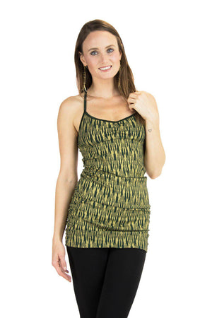 Anabelle Tank with Ikat Print
