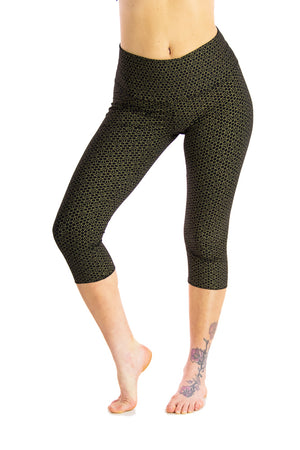 Ananda Tights with Honeycomb Flower Print