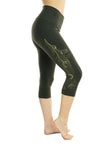 Ananda Yoga Tights - Gold Wing Print