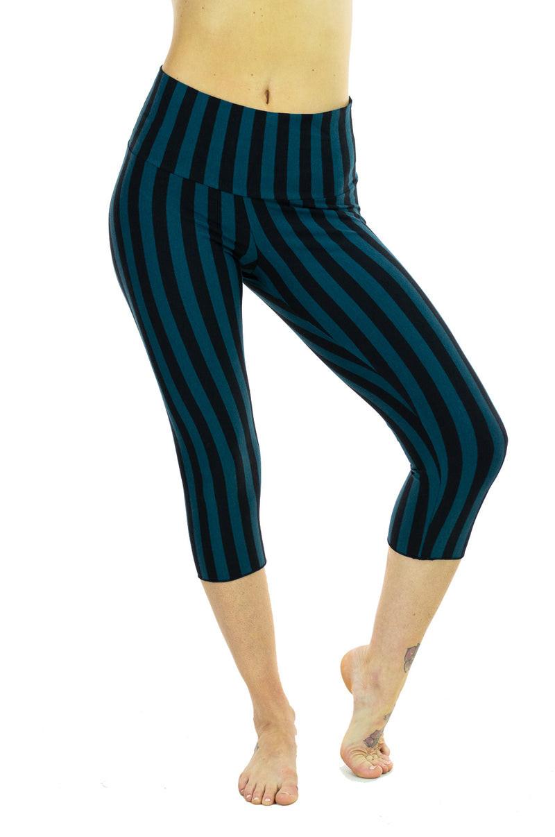 Ananda Yoga Tights - Striped