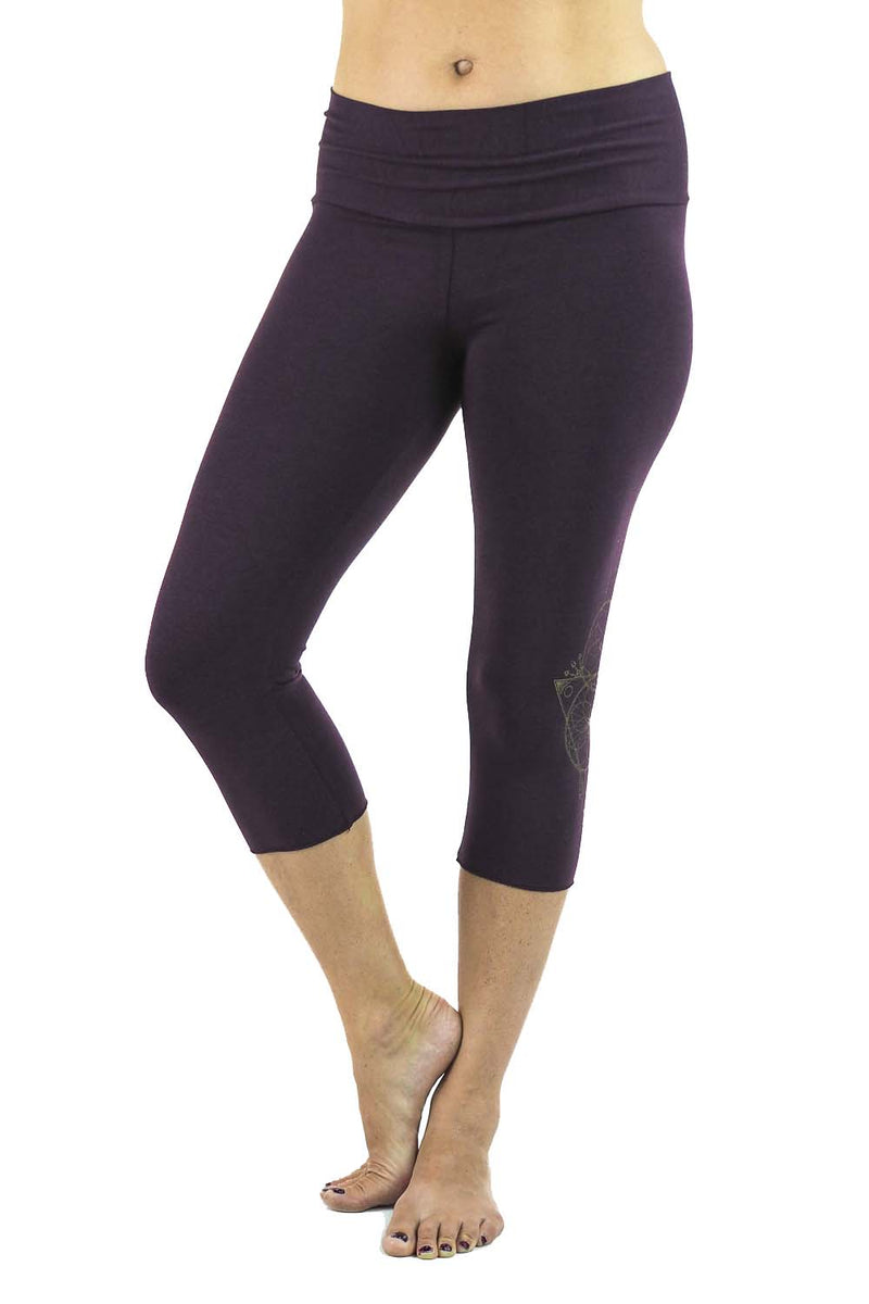 Ananda Yoga Tights - Gold Dreamcather Print