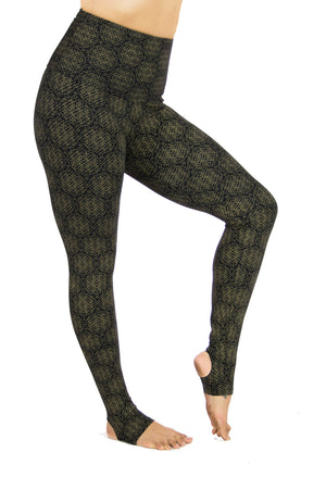 Anu high waisted tights with Amazonia Print