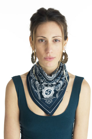 Elemental Bandana with Gold Print