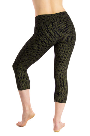 Malaya Yoga Tights with Honeycomb Flower Print