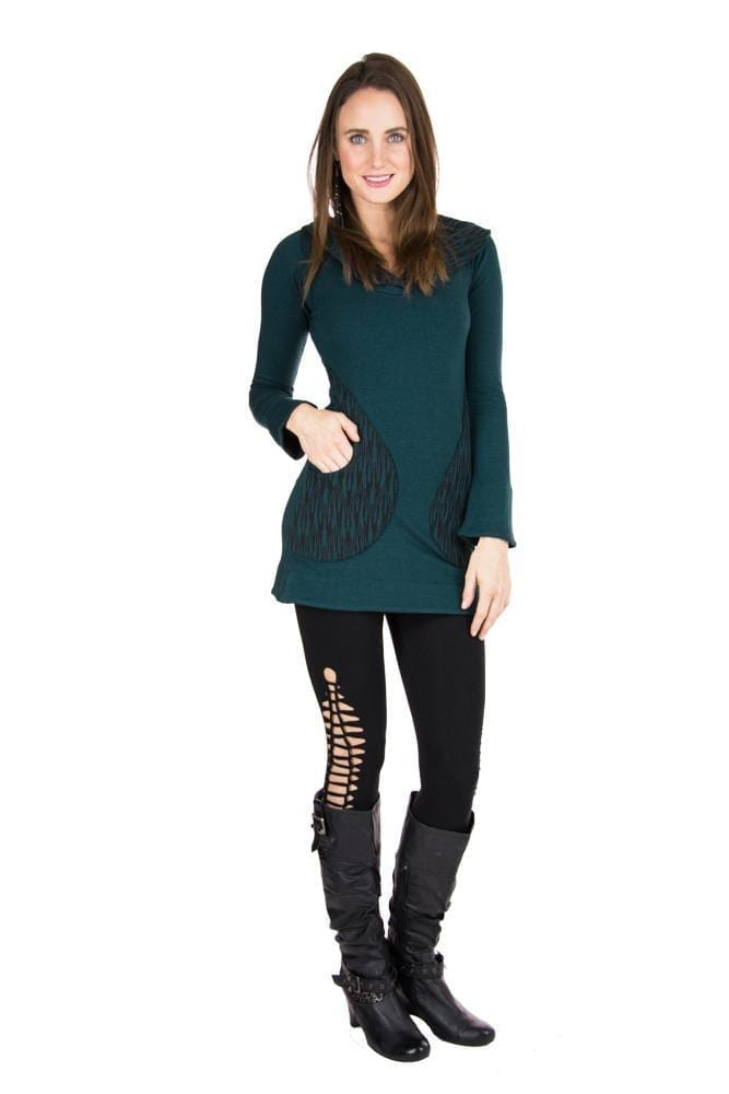 Indira Tights with Braided Leg