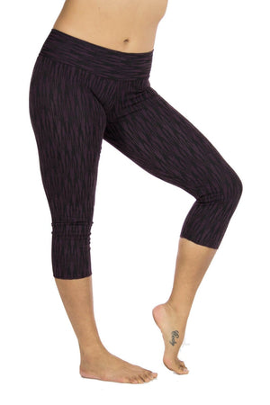 Malaya Yoga Tights with Ikat Print