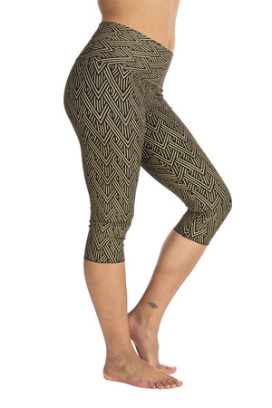 Malaya Yoga Tights with Deco Arrow Print