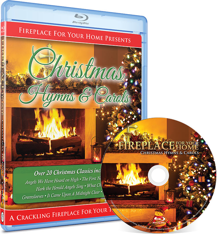 Fireplace For Your Home: Christmas Hymns & Carols Blu-ray Disc #15 - Fireplace For Your Home