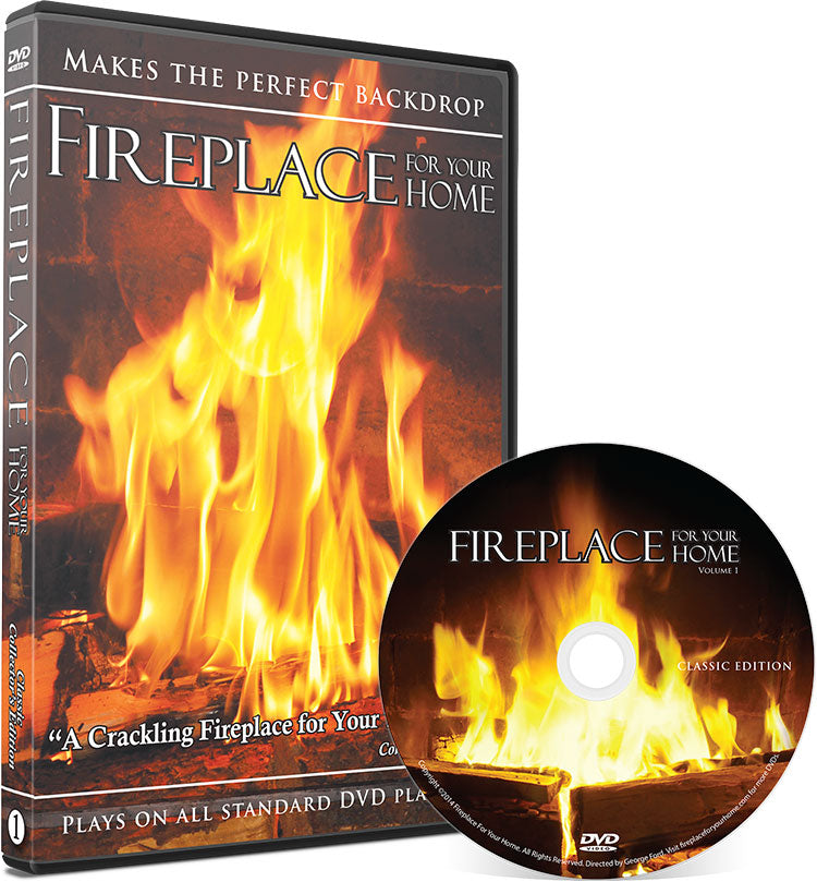 Fireplace For Your Home Classic Edition DVD #1 - Our Best Seller! - Fireplace For Your Home