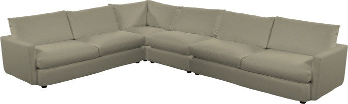 Urban Slipcovered Sectional IV