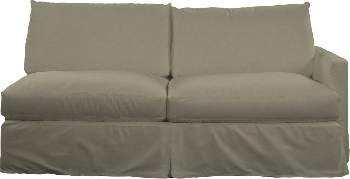 Urban Slipcovered One Arm Sofa - Right