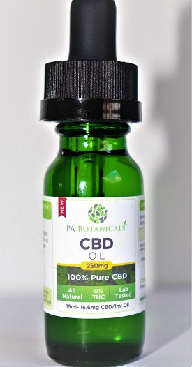 250mg / 15ml CBD Oil - P A Botanicals
