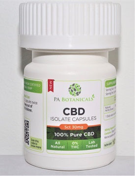 5 Count 25mg CBD Isolate Capsules (125mg) - P A Botanicals