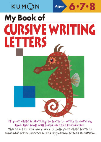 Kumon - My Book of Cursive Writing Letters - 1 left in stock