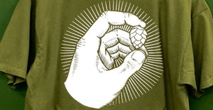 Green Hop Hand T-Shirt
