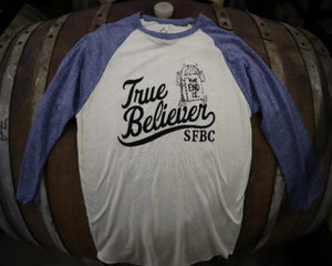 True Believer Baseball Tee (Navy/Cream)