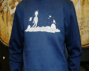 Crew Neck Sweater - Navy Blue