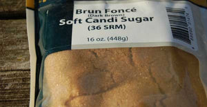 Dark Brown Soft Candy Sugar 1 lb