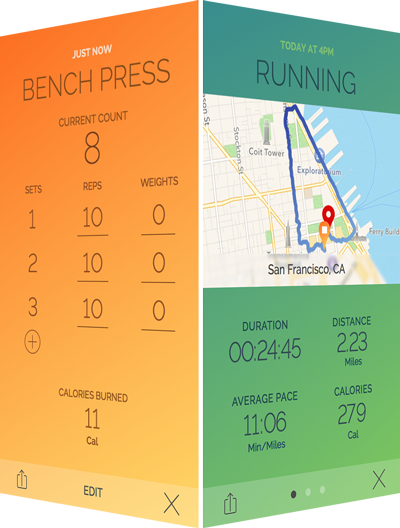 Exercise Screens