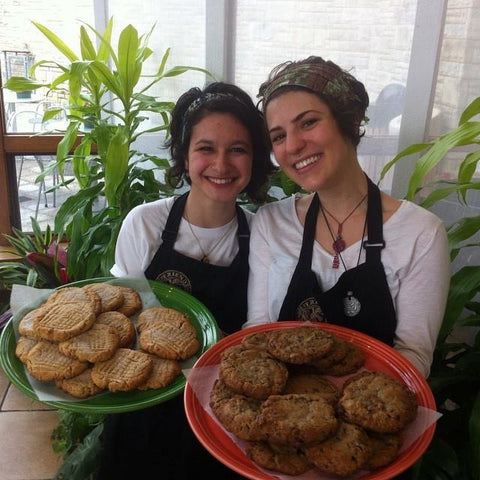 Daisy and Sam serving up homemade cookies