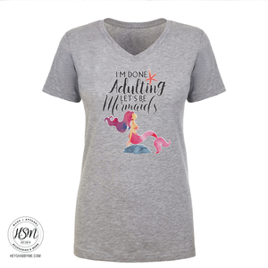 Adulting vs. Mermaids - T-shirt