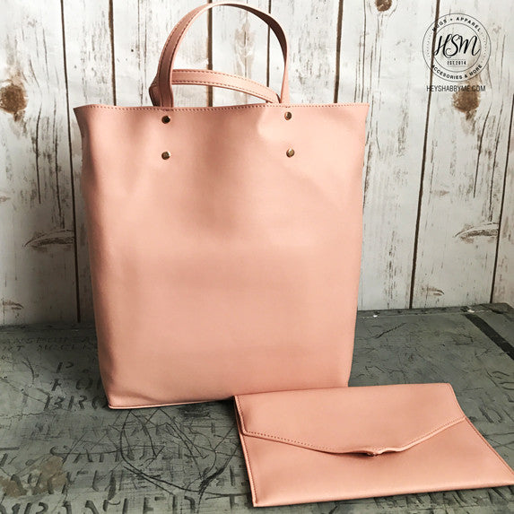Katalina Faux Leather Tote & Clutch
