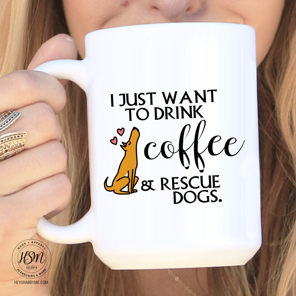Rescue Dogs Mug Hey Shabby Me