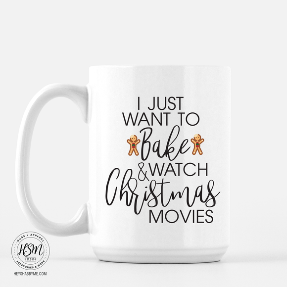 Baking and Christmas Movies - Mug
