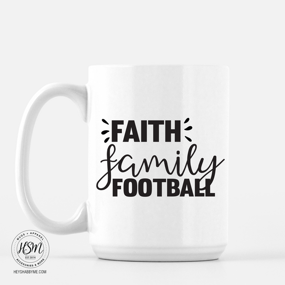 Faith Family Football - Mug
