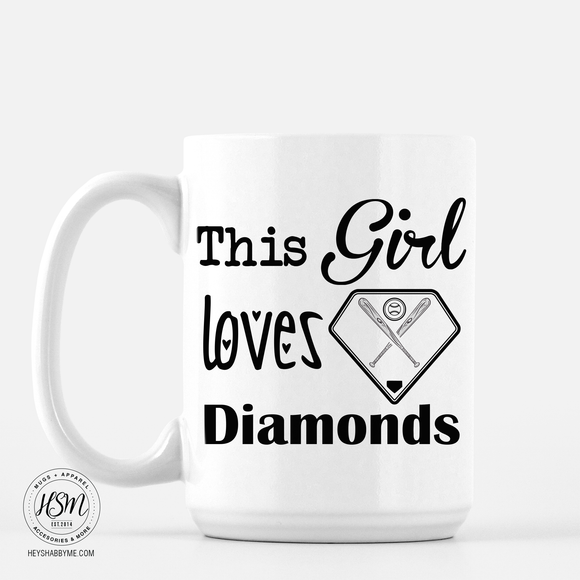 baseball diamond love - Mug