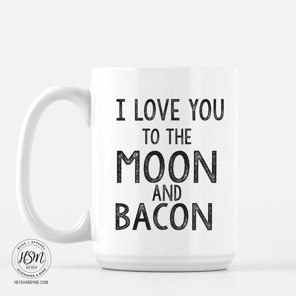 Moon and Bacon - Mug